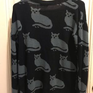 Cooperative cat cardigan